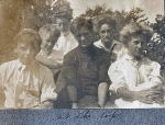 """""""At the Top"""" (Back row: Zillah Trewin and Alice Lawrence)"""