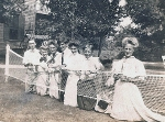 Edward (or Charlie) Roberts, ?, ?, ?, Ruth Cheney, ?, Zillah Trewin, Alice Lawrence