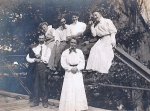 Seated middle rear: Edward (or Charlie) Roberts and Ruth Cheney