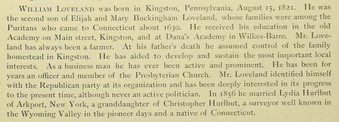 From The Wyoming Valley in the 19th Century. Art Edition, by S. R. Smith, published in 1894.