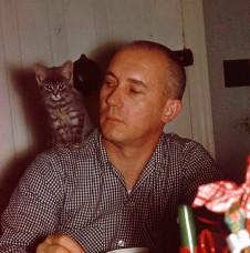 Smokey the Cat with Charles Brodhead 1958
