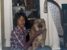 Todd Brodhead w/ Tabby, sweetest German Shepherd ever, early 1980s