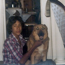 Todd Brodhead w/ Tabby, sweetest German Shepherd ever, early 1980s