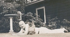 "1942: William Boles with ""Snooks"""