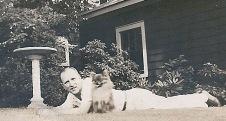 """1942: William Boles with """"Snooks"""""""