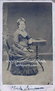 Phoebe Simpson, daughter of George and Mary Wills