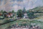Farmhouse Watercolor by Bertha Woodruff