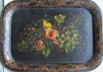 Tray painted by Bertha Woodruff as a wedding gift for her sister, Fannie