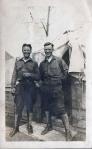 William Boles (right), WWI, France