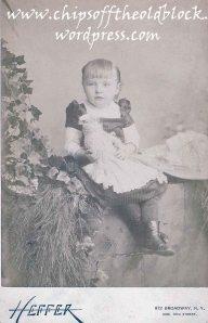 Zillah Trewin, age 4, circa 1887