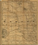Official Railroad Map of Dakota, 1886