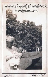 Elizabeth Sargent Trewin with ZillahTrewin Boles' daughter `Betty' Boles, August 12, 1923