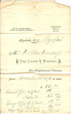 Woodruff doctor's bill