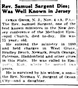 The New York Sun, Thursday, Nov. 4, 1926 (Courtesy of www.fultonhistory.com)