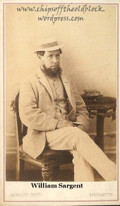 William Slaymaker (changed last name to Sargent before moving to the US in 1870)