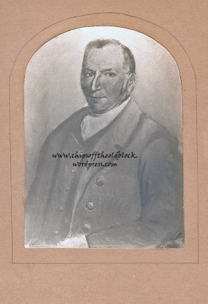 George Wills, 1793-856, Image from private family archives. George Wills' original portrait was inherited by his daughter Martha according to the will