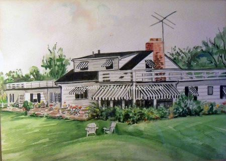 Watercolor of the Scotch Plains home, painted by my Grandmother Fannie Brodhead