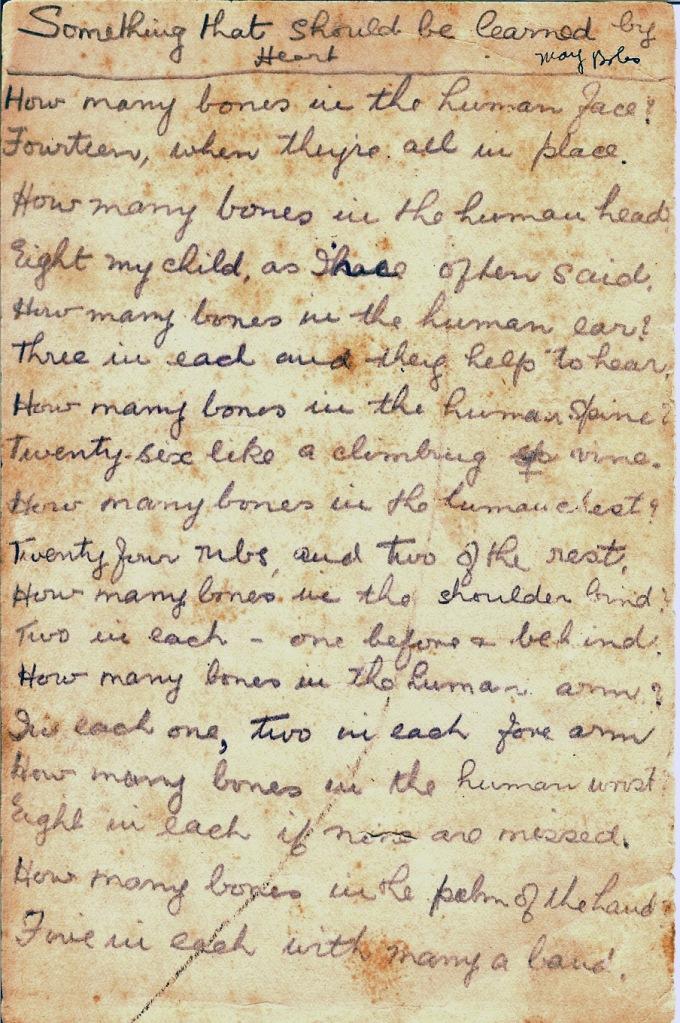 Bones Poem, p. 1