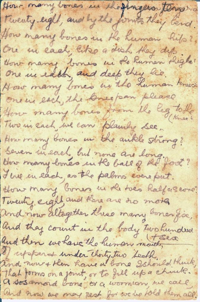 Bones Poem, p. 2