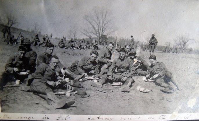 """""""On the range in Feb [?] men in the field"""""""