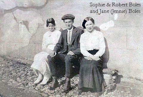 Sophie Boles and brother Robert Boles with cousin Jennie Boles, early 1920s?