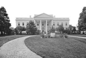White House in the Civil War era 1860s (photographer unknown; photo in public domain*)