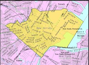 Elizabeth, NJ, US Census map (in public domain - Wikimedia)