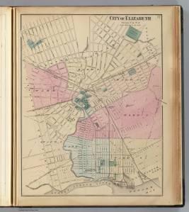 Elizabeth, NJ, 1872 (David Rumsey Map Collection (*credit below)