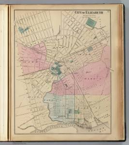 Elizabeth, NJ, 1872 (David Rumsey Map Collection (*credit below)