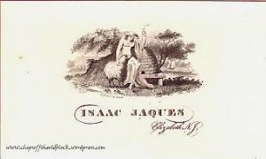 Isaac Jaques' calling card
