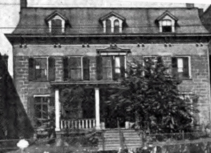 Angus family home in Elizabeth, NJ, from 1848-1871
