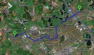 Newport Pagnell proximity to Stony Stratford