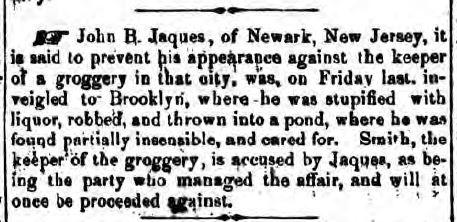 Jamaica, NY, Long Island Farmer, January 7, 1858 (www.fultonhistory.com).
