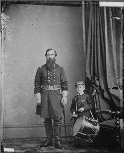 Gen. Richard Busteed and drummer boy, US National Archives**
