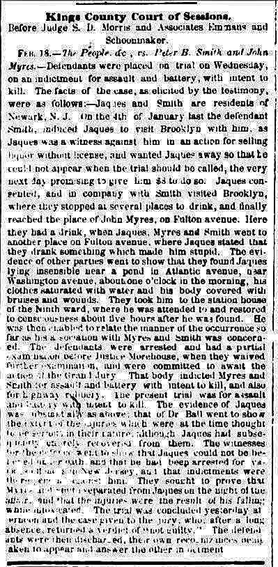 New York Herald, 19 February 1858