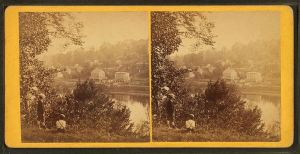 View looking down the Schuylkill River from Laurel Hill cemetery near Philadelphia, Pa, from Robert N. Dennis collection of stereoscopic views (in public domain - Wikimedia Commons)
