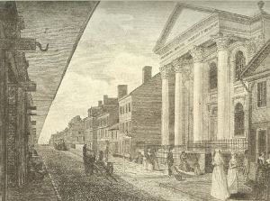First Presbyterian Church, Market Street, East of Third, in 1800