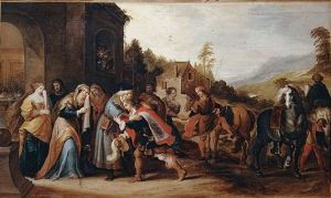 The Parable of the Prodigal Son, oil on canvas, by Frans Francken II, 1860 (Wikimedia Commons - Public domain in US - expired copyright)
