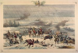 The retreat of Napoleon from Russia, 3 November 1812, by Victor Adam - mid-19th century (Pennington Catalogue, p. 3005, McGill University Libraries (Public domain-Wikimedia)