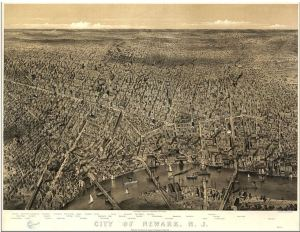 Newark, NJ, 1874 (Source: American memory of the Library of Congress); Wikimedia Commons: Public domain - published prior to January 1, 1923