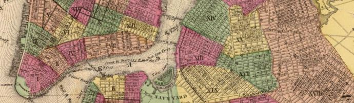 Portion of Plan of New York and Brooklyn. (Atlas of New York and vicinity ... by F.W. Beers ... published by Beers, Ellis & Soule, New York, 1868) - David Rumsey Historical Map Collection - link below.