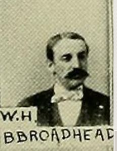 Wm Hall Brodhead, image from Wyoming Valley in the 19th Century. Art Edition by SR Smith, Vol I, Wilkes-Barre Leader Print, 1894