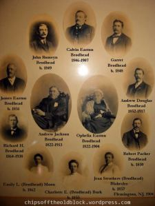 Andrew Jackson Brodhead Family, composite framed in 1904