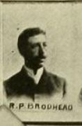 Robert P. Brodhead, husband of Fanny V. Loveland; son of Andrew Jackson Brodhead & Ophelia Easton.
