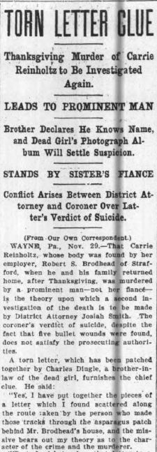 NY Globe and Commercial Advertiser, Tues, 29 Nov. 1904 (www.fultonhistory.com)
