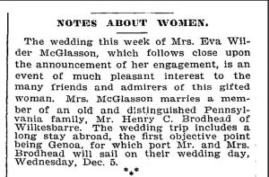 Impending wedding news from the New York Times, 2 December 1894