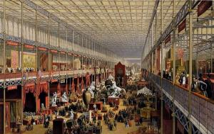 Crystal Palace interior during the Great Exhibition of 1851. (Wikimedia Commons: PD-1923 – published before 1923 and public domain in the US)