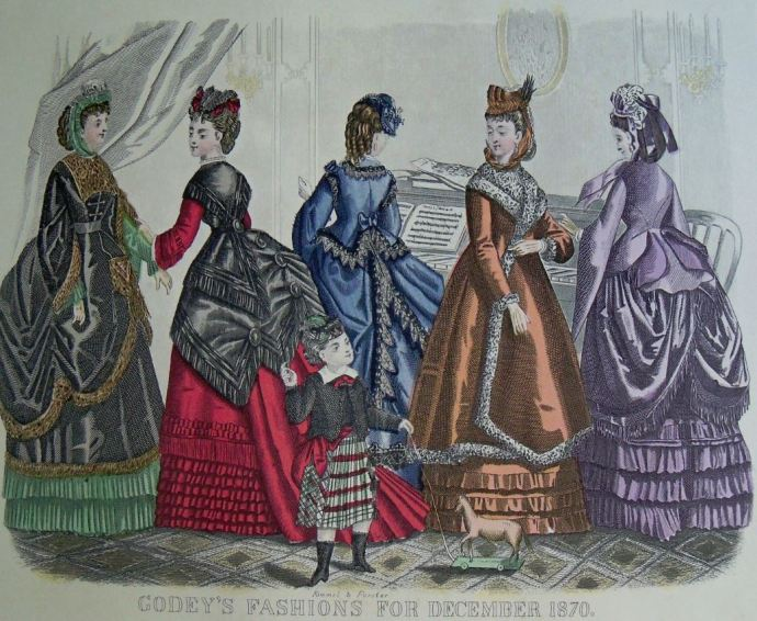 Godey's 1870 Fashion: December (reprinted in Italy, purchased from McCall's magazine in 1970)