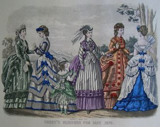Godey's 1870 Fashion: May (reprinted in Italy, purchased from McCall's magazine in 1970)