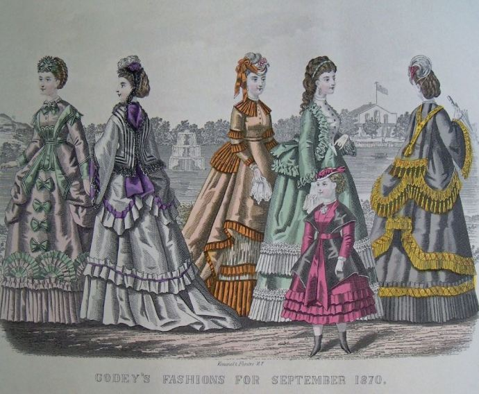 Godey's 1870 Fashion: September (reprinted in Italy, offered by McCall's magazine)